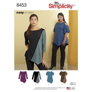 Simplicity 8453 Misses' Knit Tops