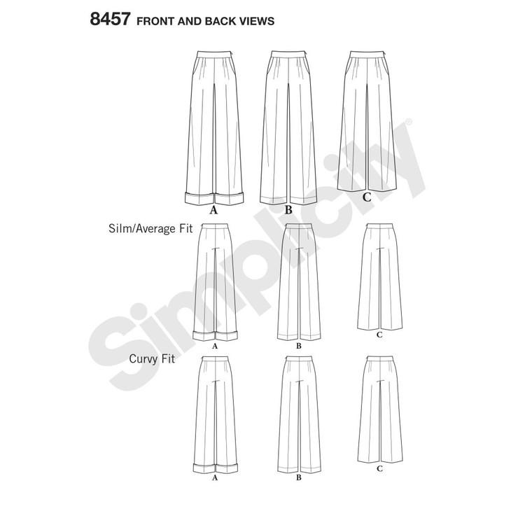 Simplicity 8457 Misses'/Women's Amazing Fit Trousers