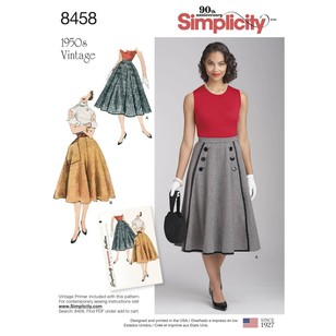 Simplicity 8458 Misses' Vintage Skirts