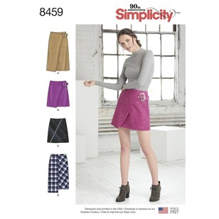 Simplicity 8459 Misses' Skirts with Length and Front Variations