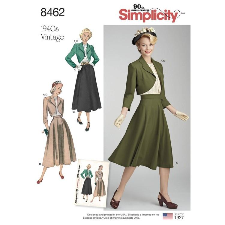 Simplicity Pattern 8462 Misses' Vintage Blouse