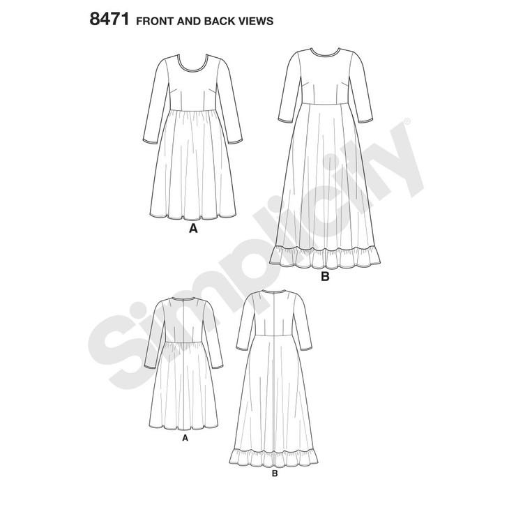 Simplicity Pattern 8471 Ashley Nell Tipton Women's Dresses