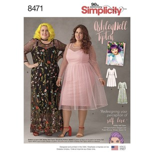 Simplicity 8471 Ashley Nell Tipton Women's Dresses