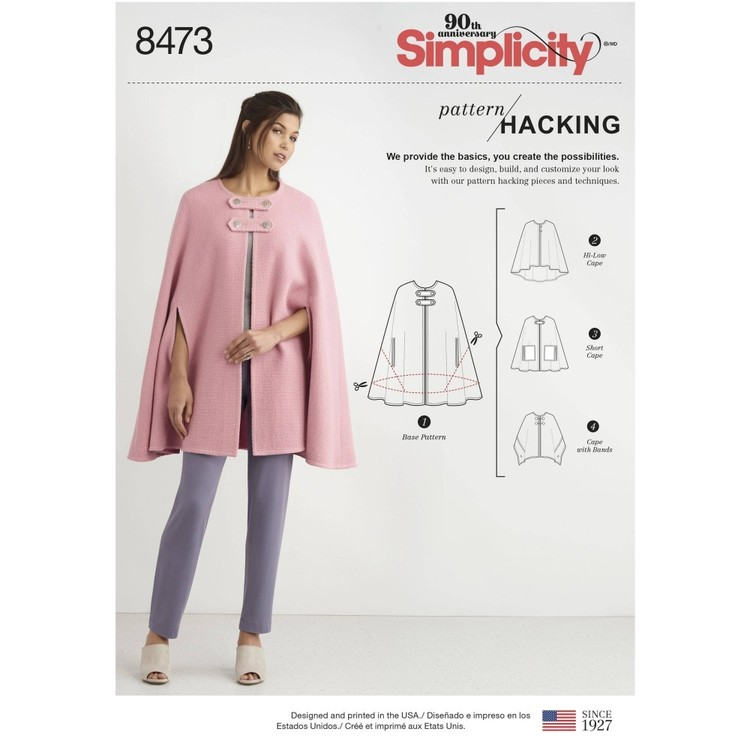Simplicity Pattern 8473 Misses' Capes with Options for Design Hacking Pattern