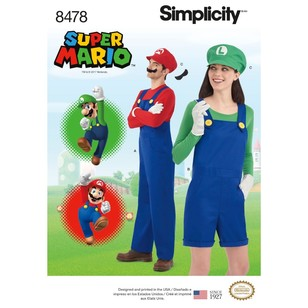 Simplicity Pattern 8478 Misses', Men's And Teens' Costume