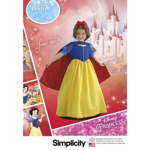 Simplicity Pattern 8487 Child's and Girl's Snow White Costume Pattern