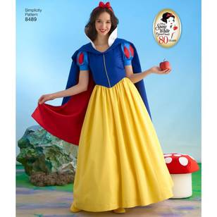 Simplicity Pattern 8489 Misses' Snow White Costume Pattern