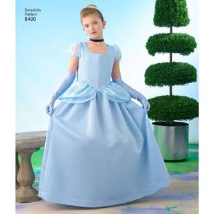 Simplicity Pattern 8490 Child's and Girl's Cinderella Costume Pattern