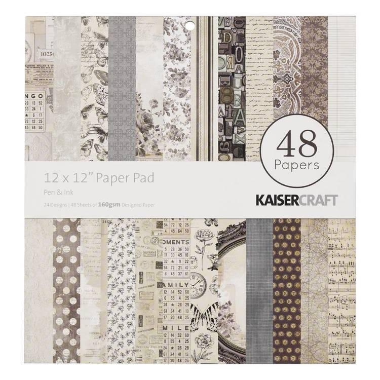 Kaisercraft Pen & Ink 30 cm  Paper Pad