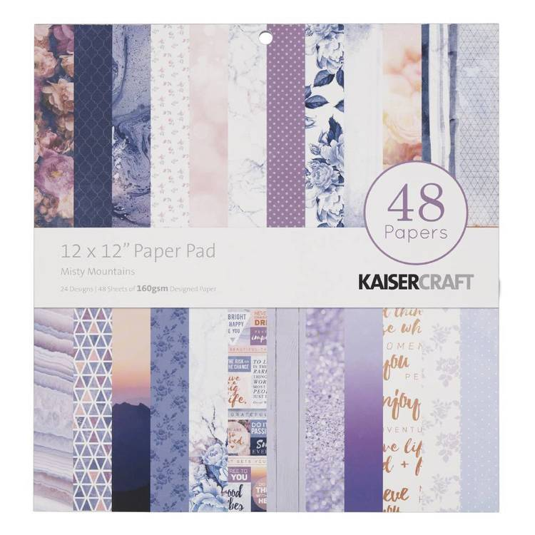 Kaisercraft Misty Mountains 12 Inch Paper Pad