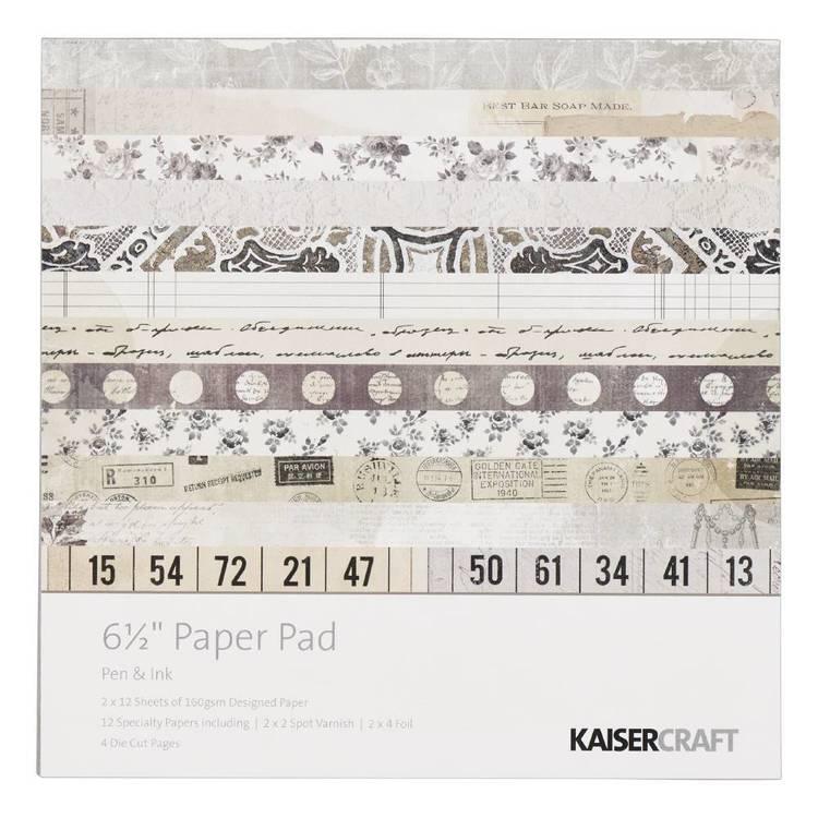 Kaisercraft Pen & Ink 16.5 cm Paper Pad