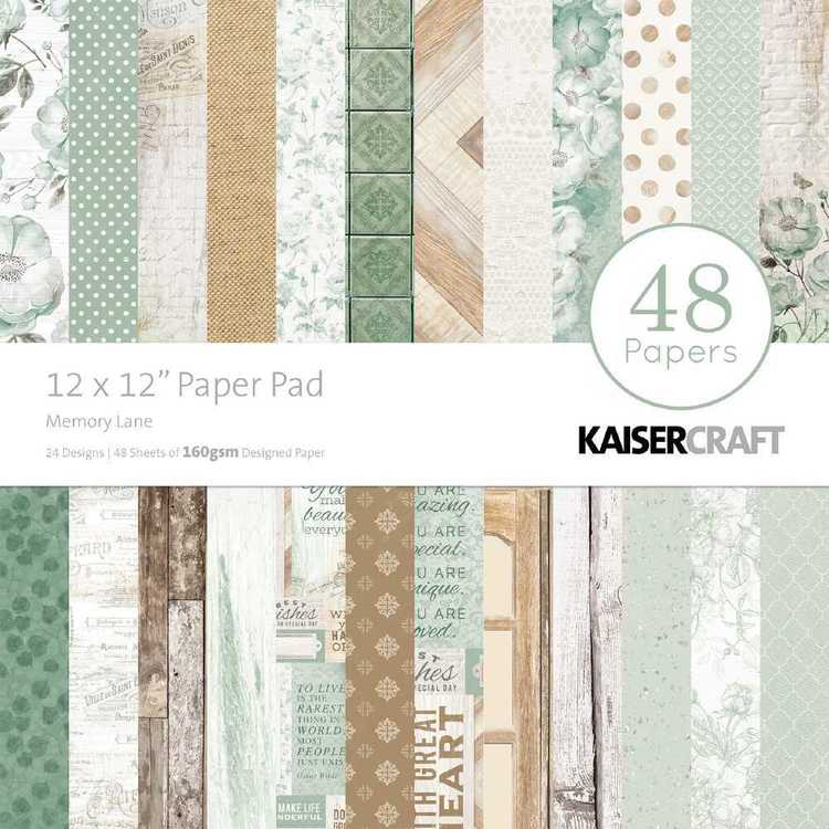 """Kaisercraft Memory Lane 12"""" Paper Pad"""