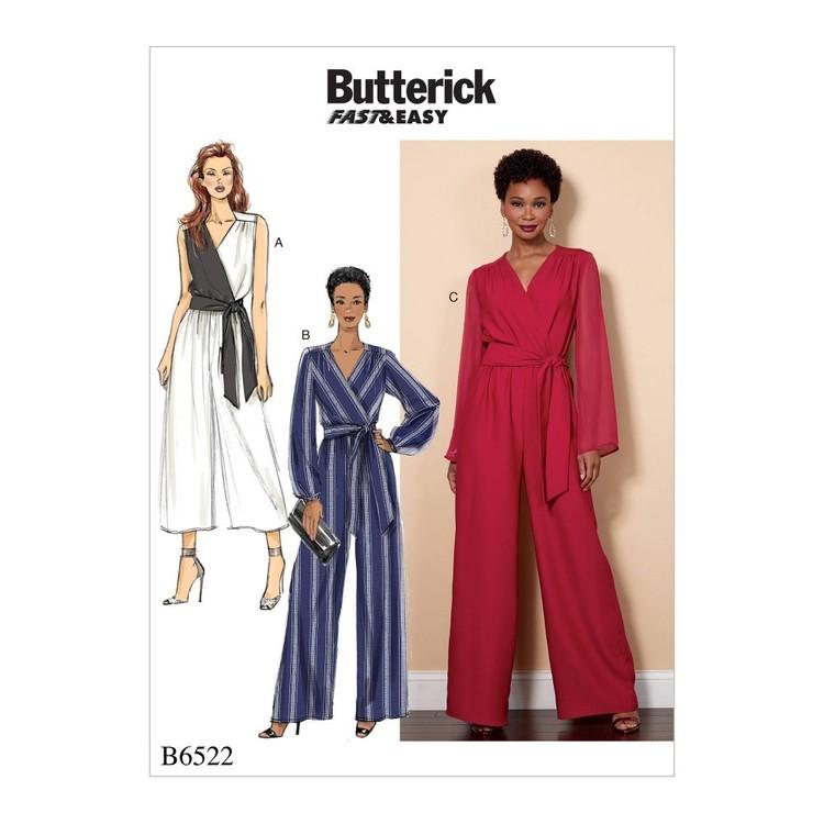 Butterick Pattern B6522 Misses'/Women's Jumpsuit and Sash