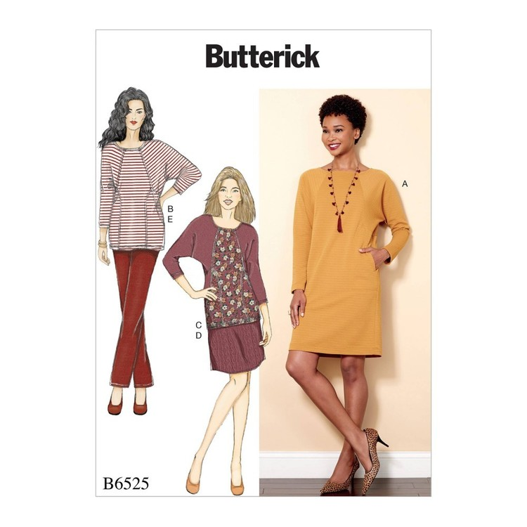 Butterick Pattern B6525 Misses' Knit Dress and Tunic