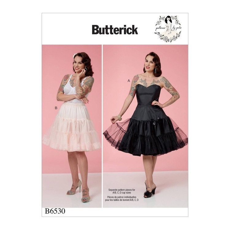 Butterick Pattern B6530 Misses' Full Slip and Petticoat