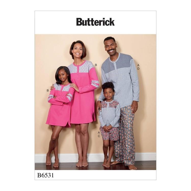Butterick Pattern B6531 Misses'/Men's/Childrens'/Boys'/Girls' Top