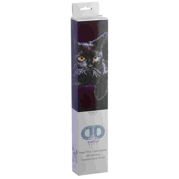 Diamond Dotz Midnight Cat Multicoloured
