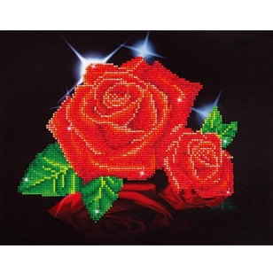 Diamond Dotz Red Rose Sparkle