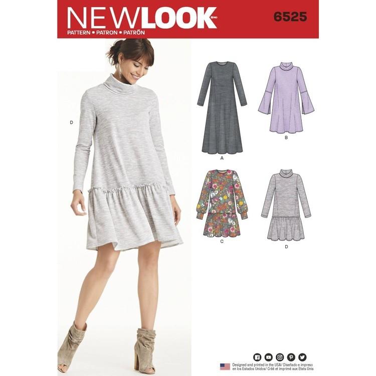 New Look Pattern 6525 Misses' Knit Dress