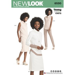 New Look Pattern 6530 Misses' Knit Pants