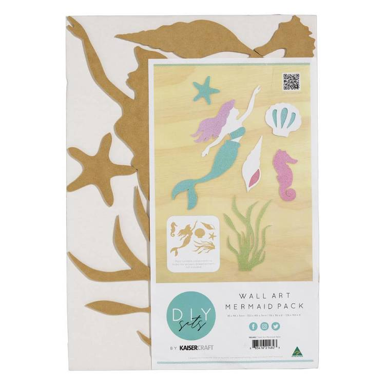Kaisercraft Wall Art Mermaid Pack 34 x 48 cm