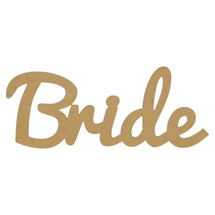 Kaisercraft Kaiserdecor Large Bride Script Word