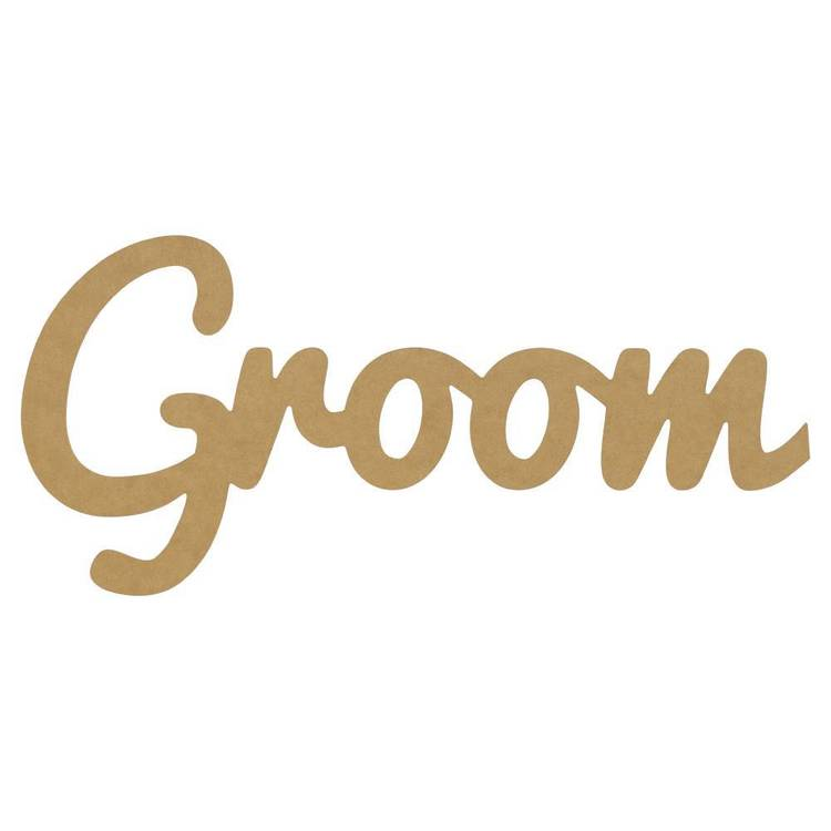 Kaisercraft Kaiserdecor Large Groom Script Word