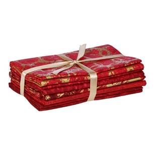 Fabric Editions Christmas 2 Metallic Flat Fat 5 Piece Bundle