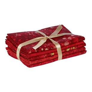 Fabric Editions Christmas 1 Metallic Flat Fat 5 Piece Bundle