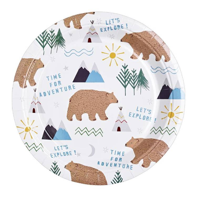 Camping Paper Plate - 6 pack