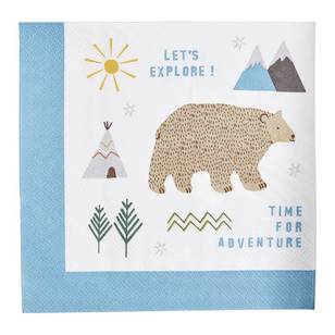 Camping Paper Napkin - 20 pack
