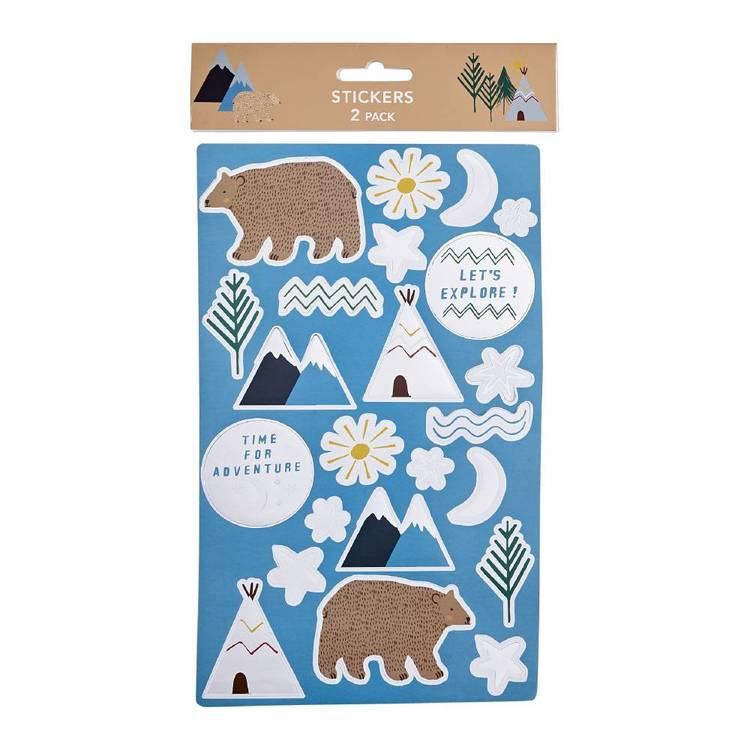Camping Sticker - 2 Pack