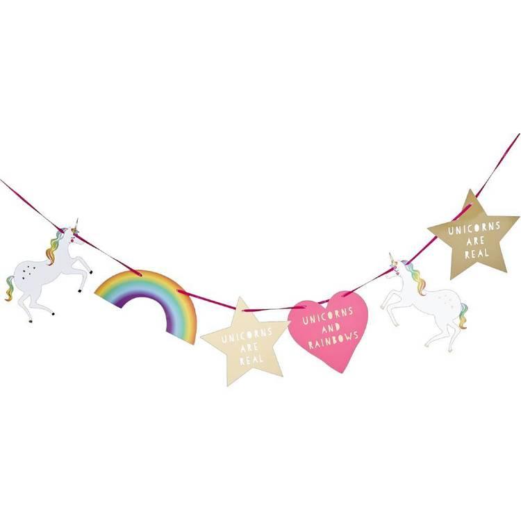 Rainbow Unicorn Paper Bunting