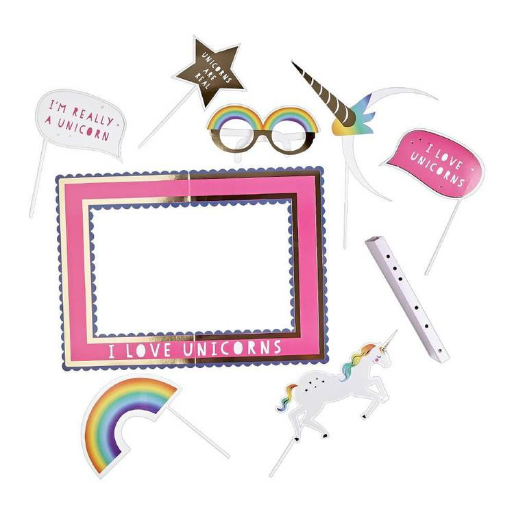 Rainbow Unicorn Selfie Booth Pack