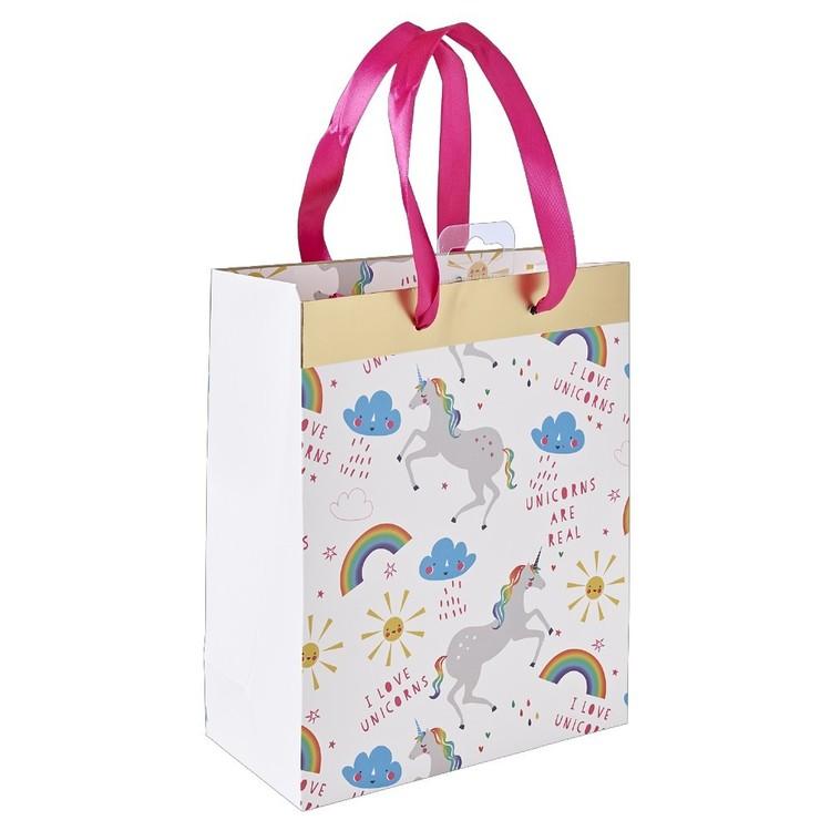 Rainbow Unicorn Paper Gift Bag