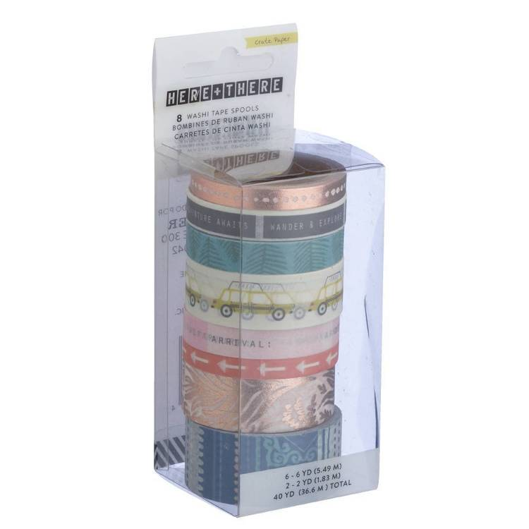 American Crafts Crate Paper Here There Washi Tape Set
