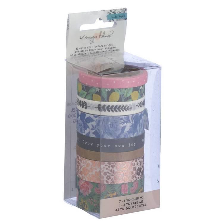American Crafts Crate Paper Flourish Washi Tape Set