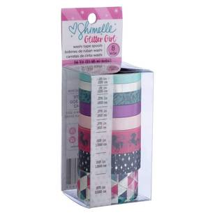 American Crafts Shimelle Glitter Girl Washi Tape Set