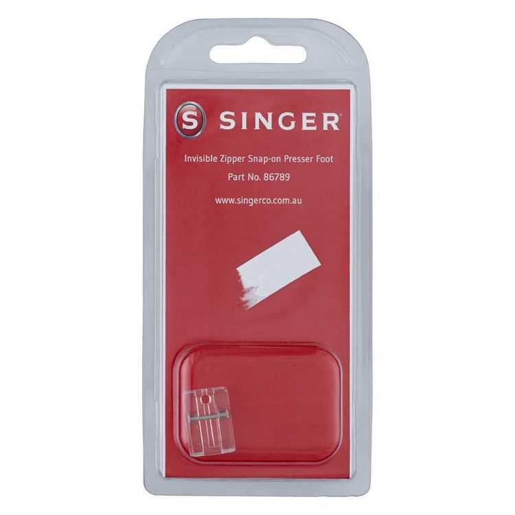Singer Invisible Zipper Snap On Presser Foot