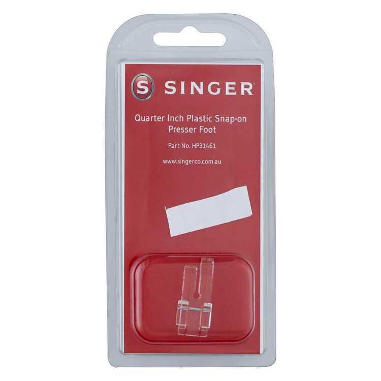 Singer 1/4 Inch Plastic Snap On Presser Foot