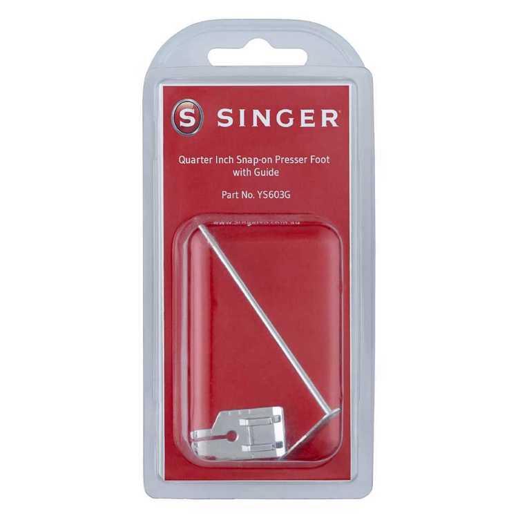 Singer Quarter Inch Presser Foot With Guide