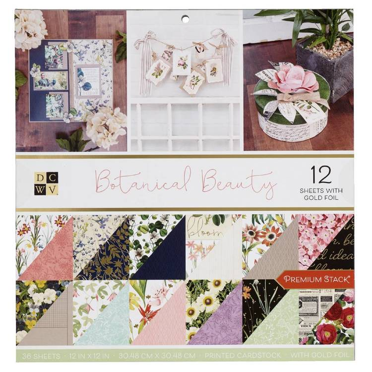 Die Cuts With A View Botanical Beauty Paper Pad