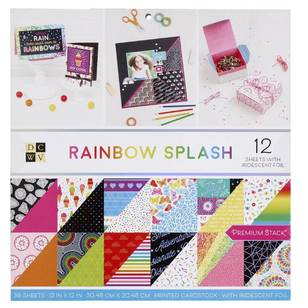 Die Cuts With A View Rainbow Splash Paper Pad