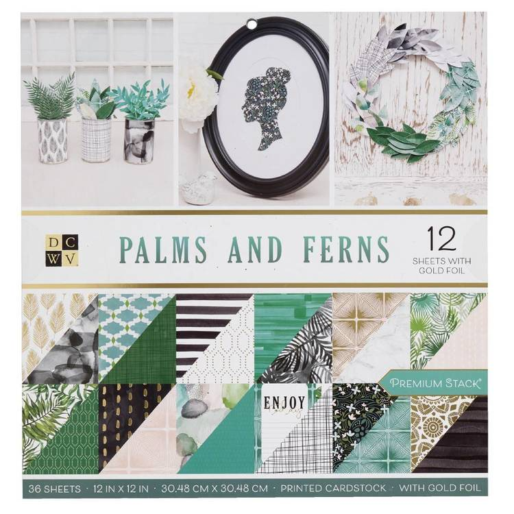 Die Cuts With A View Palms & Ferns Paper Pad
