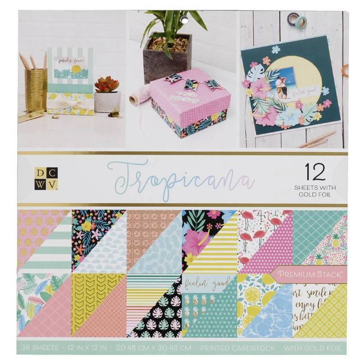 Die Cuts With A View Tropicana Paper Pad