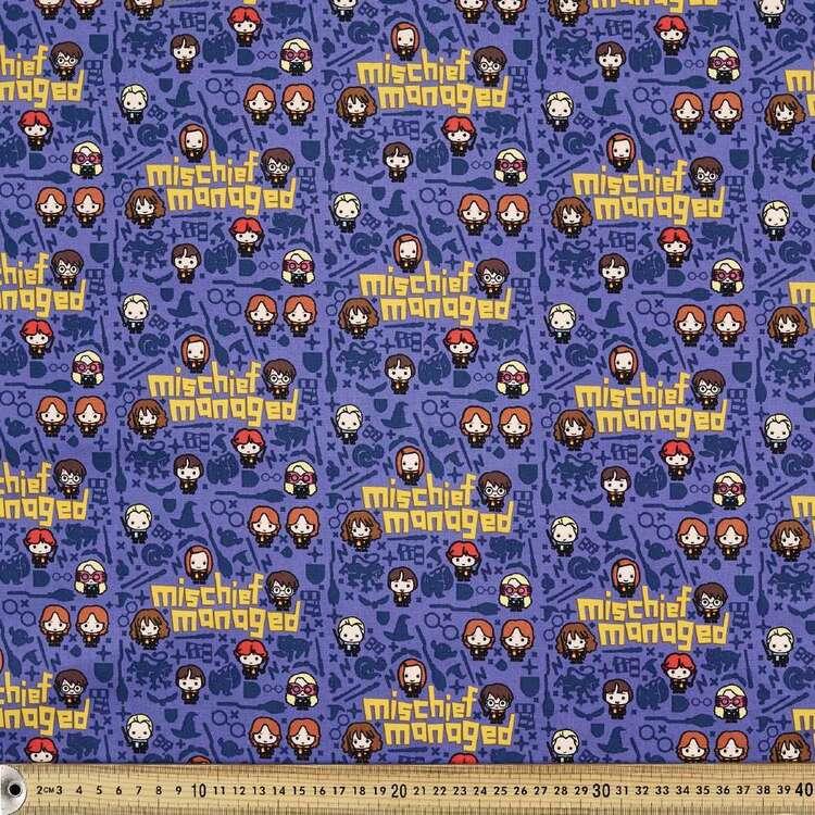 Harry Potter Mischief Managed Printed Poplin Fabric