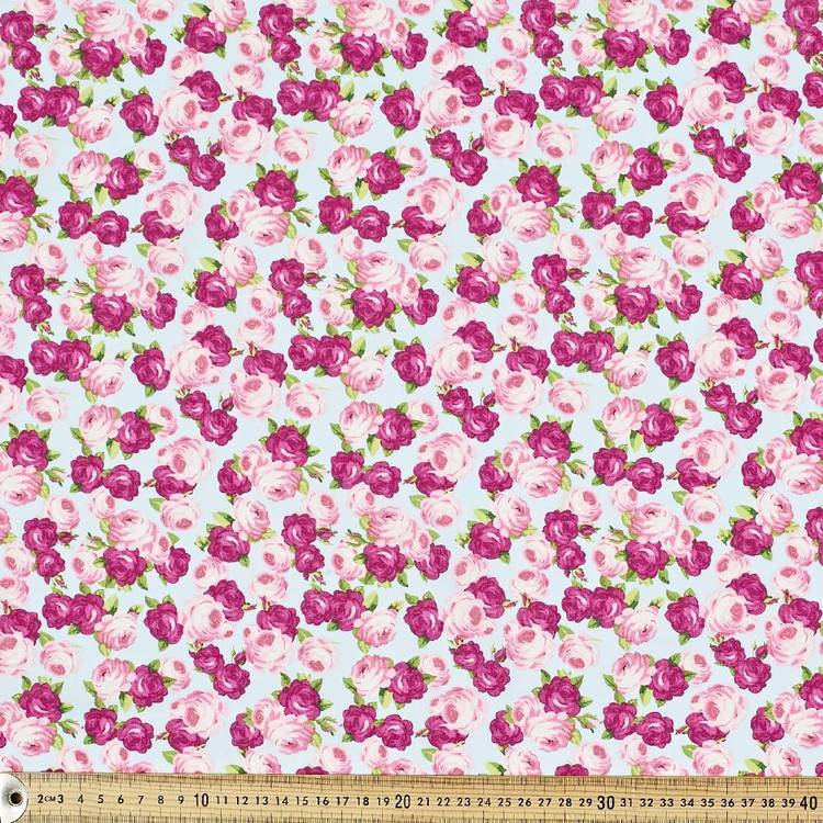 Country Garden Large Rosette Fabric