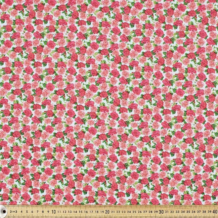 Country Garden Medium Rosette Fabric