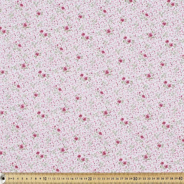 Country Garden Cluster Fabric Ivory 112 cm