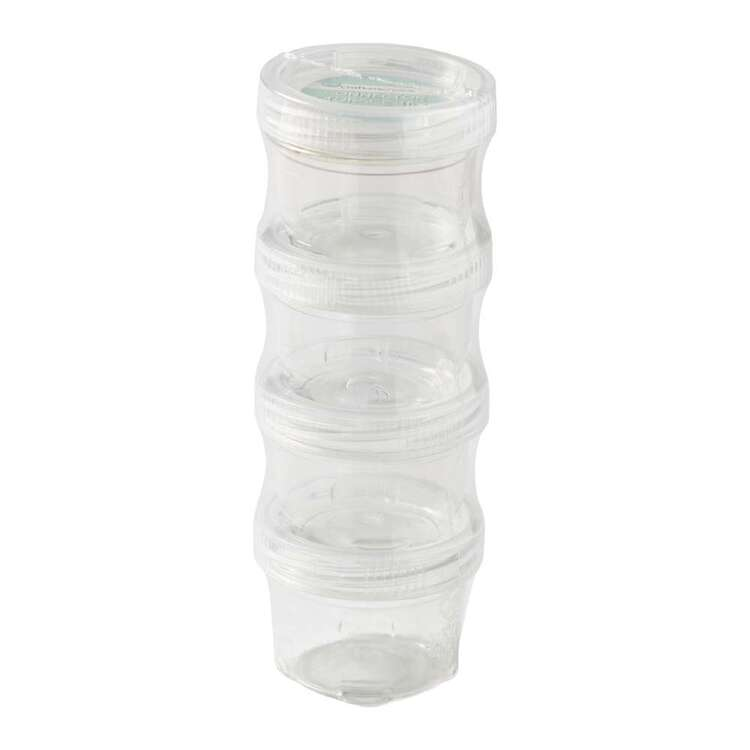 Crafters Choice 4 Pack Clear Small Connector Storage Jars